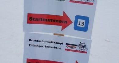 Grundschulwettbewerb Skispringen in Thüringen