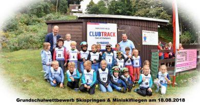 Grundschulwettbewerb und Miniskifliegen in Scheibenberg